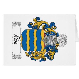 Escudo de la familia de Riva Tarjetón