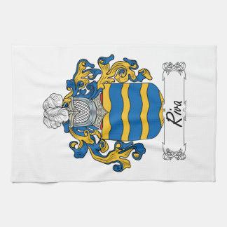 Escudo de la familia de Riva Toallas De Cocina