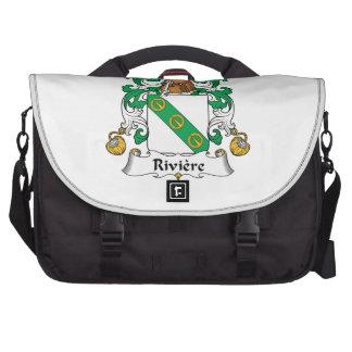 Escudo de la familia de Riviere Bolsas De Ordenador