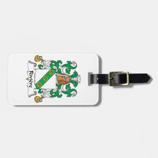 Escudo de la familia de Riviere Etiqueta Para Equipaje