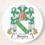 Escudo de la familia de Riviere Posavasos Diseño