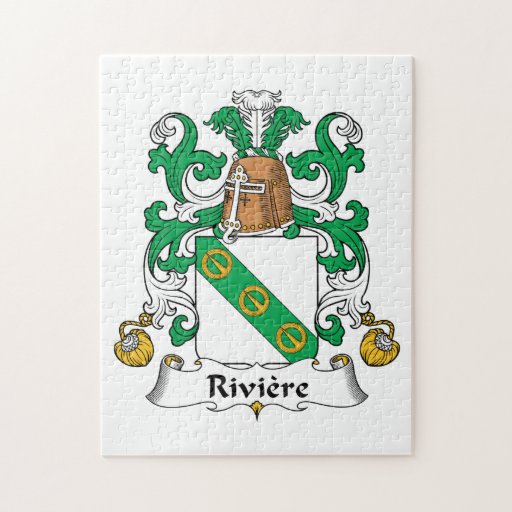 Escudo de la familia de Riviere Rompecabeza Con Fotos