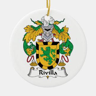 Escudo de la familia de Rivilla Adorno Redondo De Cerámica