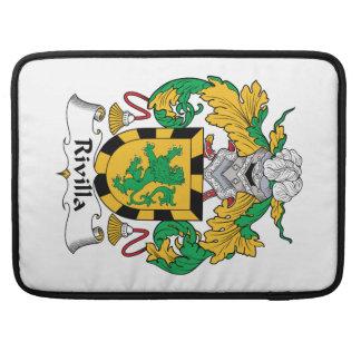 Escudo de la familia de Rivilla Funda Para Macbooks