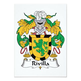 """Escudo de la familia de Rivilla Invitación 5"""" X 7"""""""