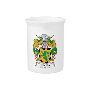 Escudo de la familia de Rivilla Jarras Para Bebida