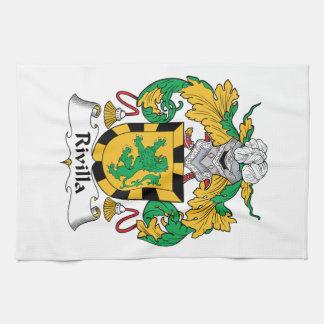 Escudo de la familia de Rivilla Toalla De Mano