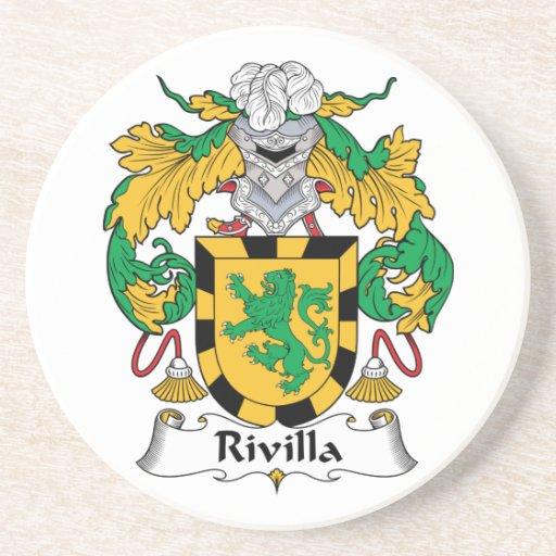 Escudo de la familia de Rivilla Posavasos Manualidades