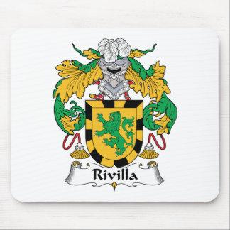 Escudo de la familia de Rivilla Alfombrillas De Ratón