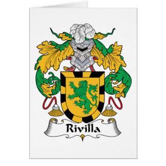 Escudo de la familia de Rivilla Tarjeta De Felicitación