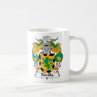 Escudo de la familia de Rivilla Taza Básica Blanca