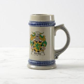 Escudo de la familia de Rivilla Jarra De Cerveza