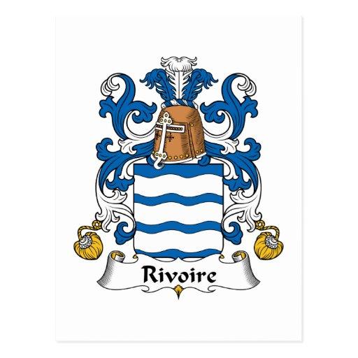 Escudo de la familia de Rivoire Tarjeta Postal