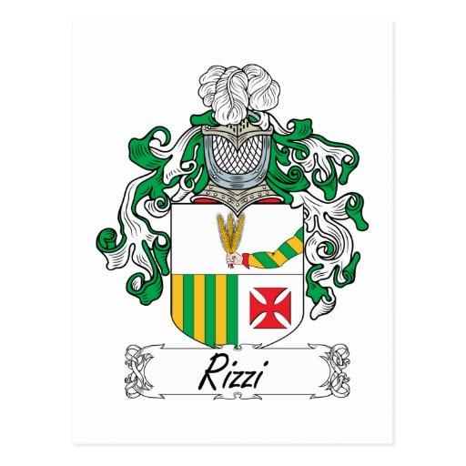 Escudo de la familia de Rizzi Postal