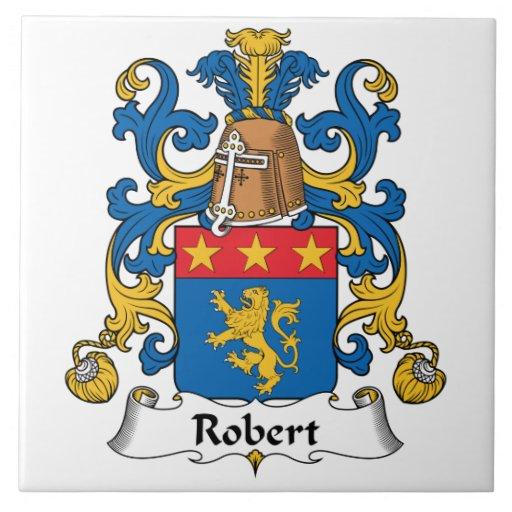 Escudo de la familia de Roberto Azulejo Cuadrado Grande