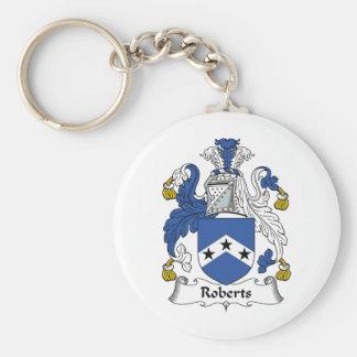 Escudo de la familia de Roberts Llavero Personalizado