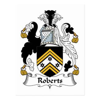 Escudo de la familia de Roberts Postal