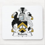 Escudo de la familia de Roberts Tapete De Ratón