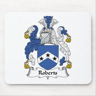 Escudo de la familia de Roberts Tapetes De Raton