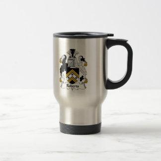 Escudo de la familia de Roberts Tazas De Café