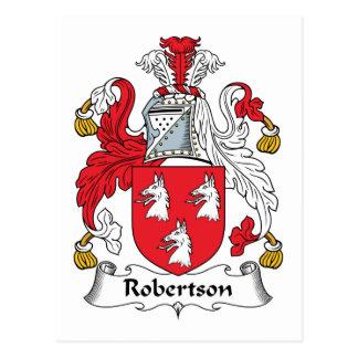 Escudo de la familia de Robertson Postal