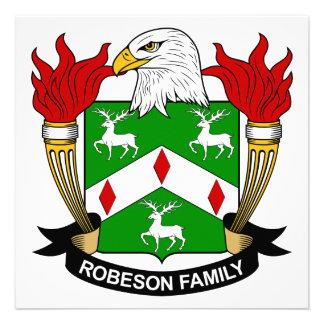 Escudo de la familia de Robeson Invitación Personalizada