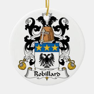 Escudo de la familia de Robillard Adorno Navideño Redondo De Cerámica