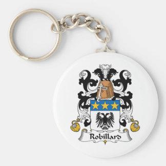 Escudo de la familia de Robillard Llavero Redondo Tipo Pin