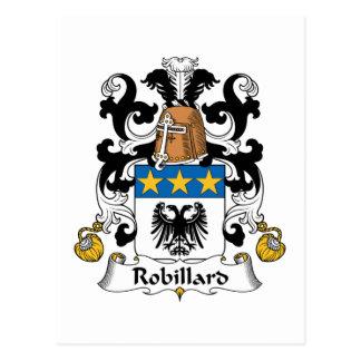 Escudo de la familia de Robillard Postales