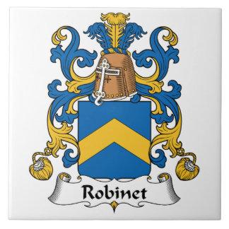 Escudo de la familia de Robinet Azulejo Cuadrado Grande