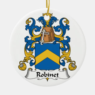Escudo de la familia de Robinet Adorno Redondo De Cerámica