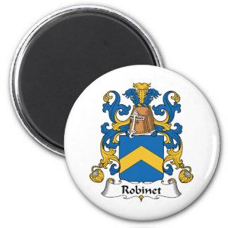 Escudo de la familia de Robinet Imán Redondo 5 Cm