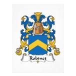 Escudo de la familia de Robinet Comunicado Personalizado