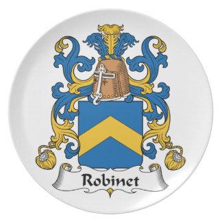 Escudo de la familia de Robinet Platos De Comidas