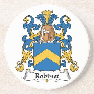 Escudo de la familia de Robinet Posavasos Personalizados