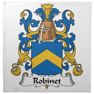 Escudo de la familia de Robinet Servilletas