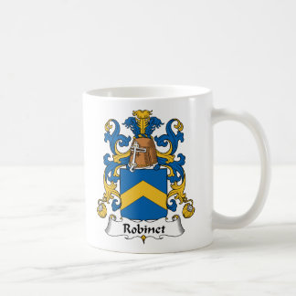 Escudo de la familia de Robinet Taza Básica Blanca
