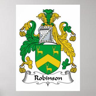 Escudo de la familia de Robinson Impresiones