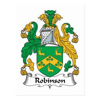 Escudo de la familia de Robinson Postales