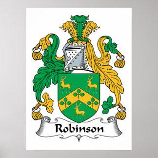 Escudo de la familia de Robinson Póster