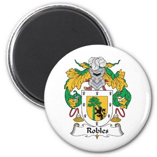 Escudo de la familia de Robles Imán