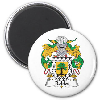 Escudo de la familia de Robles Imán Redondo 5 Cm