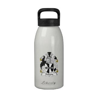 Escudo de la familia de Robyns Botellas De Agua Reutilizables
