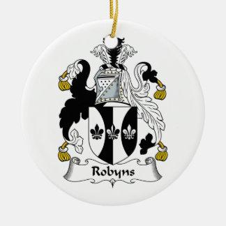 Escudo de la familia de Robyns Ornamente De Reyes