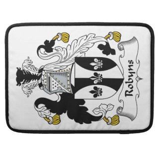 Escudo de la familia de Robyns Fundas Macbook Pro