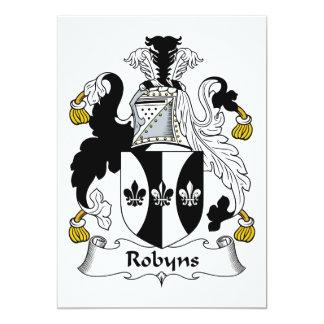 """Escudo de la familia de Robyns Invitación 5"""" X 7"""""""