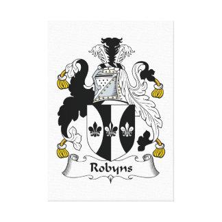 Escudo de la familia de Robyns Lona Envuelta Para Galerias