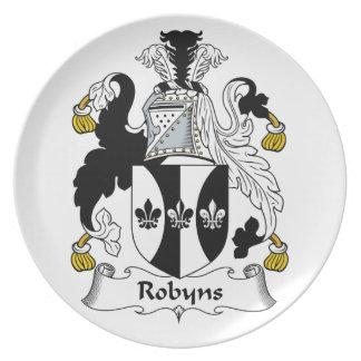Escudo de la familia de Robyns Plato De Cena