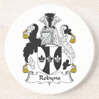 Escudo de la familia de Robyns Posavasos Personalizados