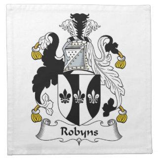 Escudo de la familia de Robyns Servilletas Imprimidas